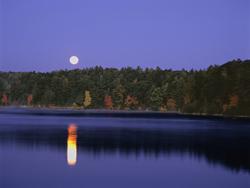 Scot Miller's moonset over Walden