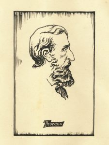 Thoreau from a bas-relief by Walton Ricketson, used by Walter Harding as a bookplate.