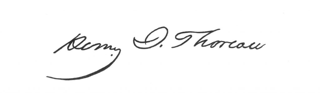 Thoreau signature