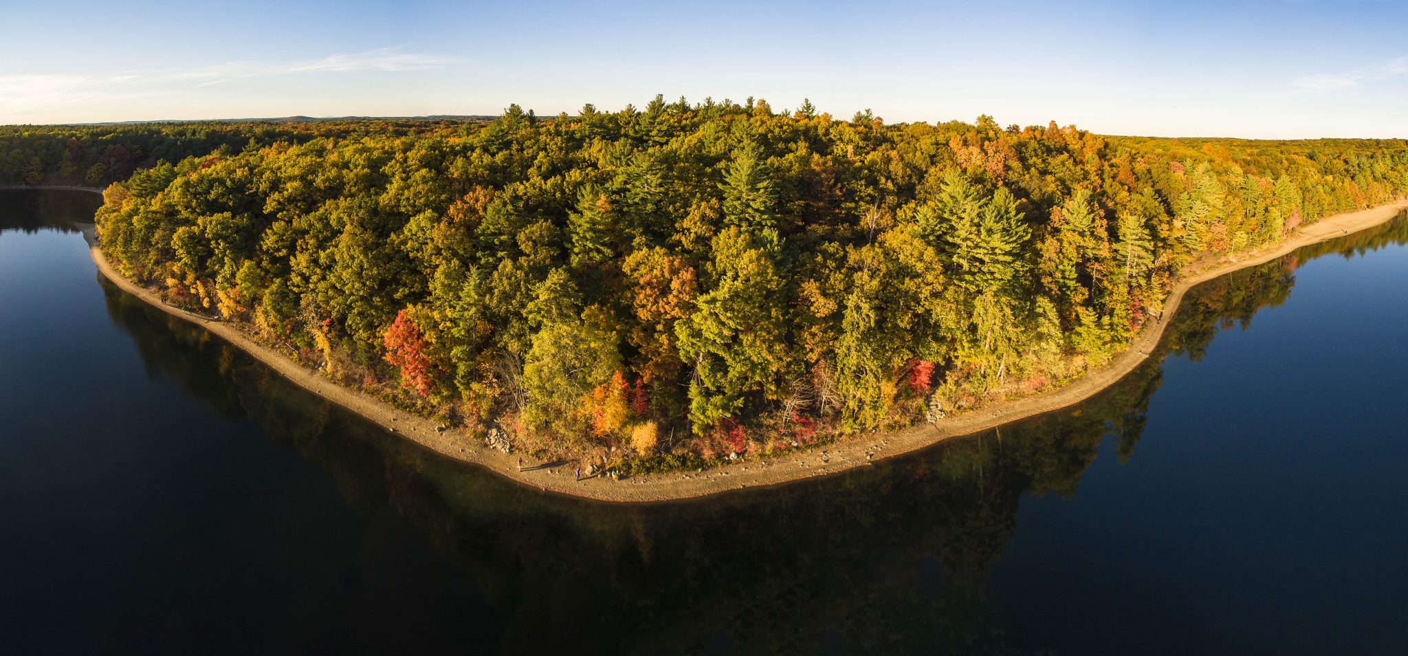 Aerial view of Walden Pond, 2015