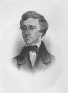 Rowse crayon portrait of Thoreau. Photographer: Herbert Gleason (1855-1937)