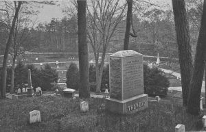 Thoreau Family Graves. Photographer: Herbert Gleason (1855-1937)