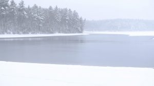 Image of Walden Pond in winter